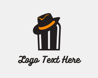 Hip Hop - Hat Man logo design