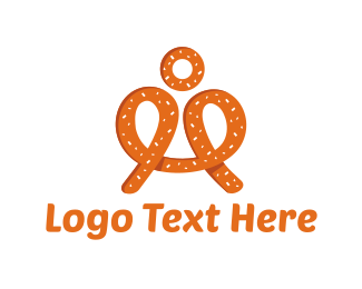 Snack - Pretzel Man logo design