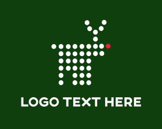 Christmas - Digital Reindeer logo design