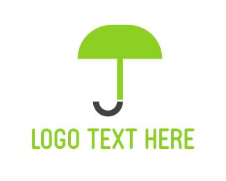 Rain - Green Umbrella logo design