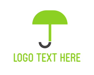 Umbrella - Green Umbrella logo design