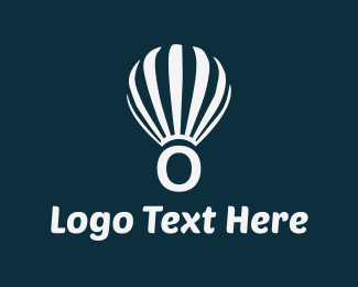 Float - Floating Letter O logo design