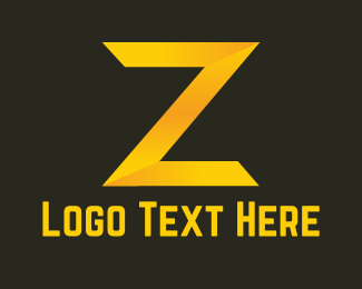 Flash - Golden Letter Z logo design