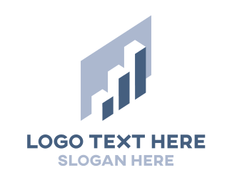 Database - Blue Chart logo design