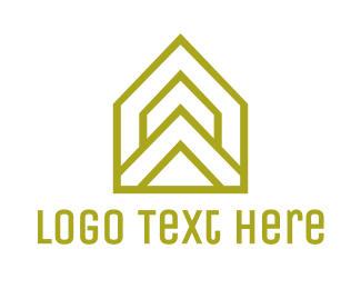 Airbnb - Yellow Triangle House logo design