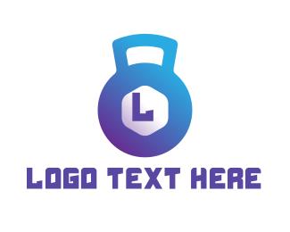 Trainer - Gradient Kettle Bell  logo design