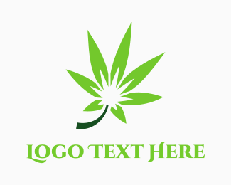 Fun - Green Marijuana logo design