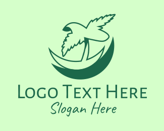 Palm - Tropical Palm logo design