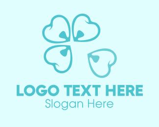 Dental - Blue Dental Flower logo design