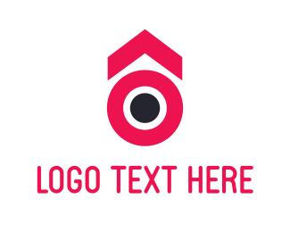 Gambling - Pink Circle Arrow logo design
