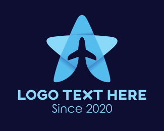 Airline - Star Plane logo design