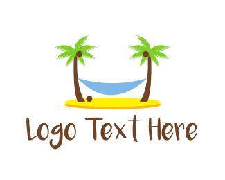 Island - Beach Hammock logo design