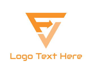 Export - F & V logo design