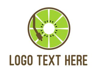 Music - DJ Kiwi logo design