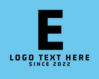 """Modern Black Letter E"" by BrandCrowd"