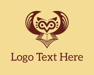 Novel - Brown Owl Book logo design