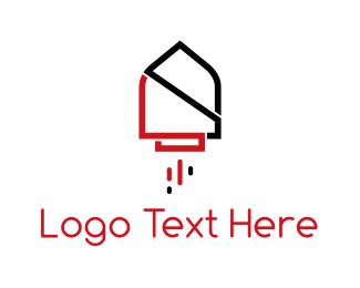 Bullet - Rocket House logo design