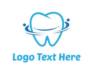 Smiling - Blue Tooth logo design