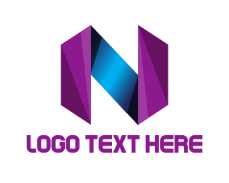 Letter N - Glass Letter N logo design