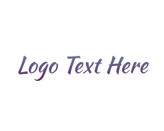 Legible - Purple Handwriting logo design
