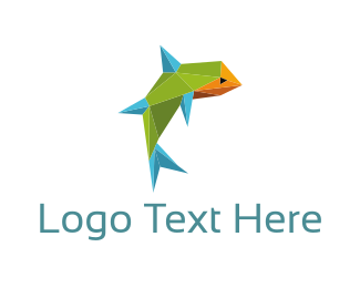 Design - Geometric Fish logo design