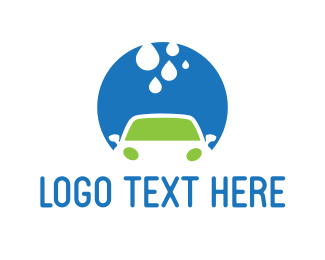 Car - Car Wash Circle logo design