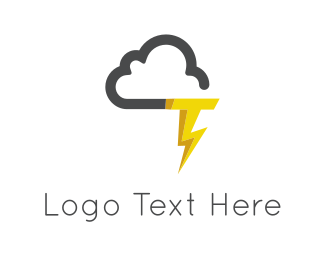 Thunder - Cloud & Thunderstorm logo design