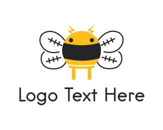 Honeybee - Electrical Bee logo design