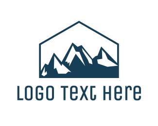 Valley - Blue House Mountain logo design