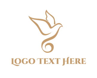 Religion - Spiral Bird logo design