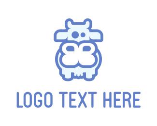 Stylized - Gentle Cow logo design