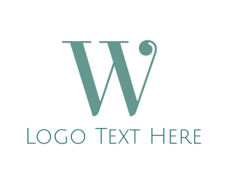 Fashion Designer - Elegant Mint W logo design