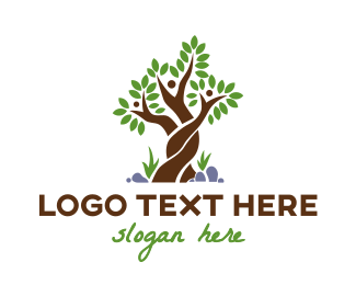 Family - Woven Tree Family logo design