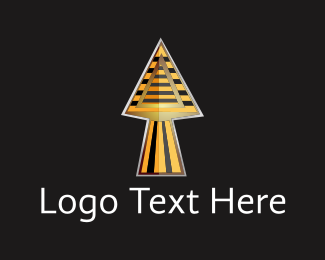 Ancient - Egyptian Spear logo design