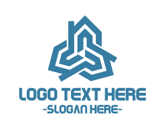Living - Triple House logo design