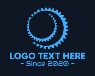 Cog - Black Gear Spiral logo design