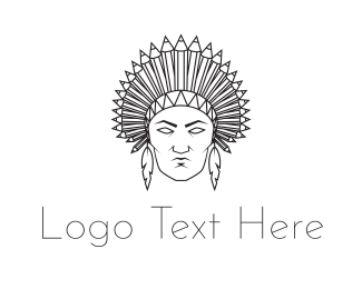 Minimalist - Native American logo design