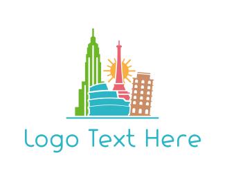 Worldwide - Tourist Places logo design