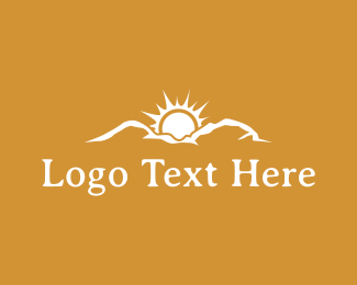 Sun - Mountain Sunrise logo design