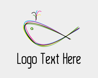 Playful - Colorful Whale logo design