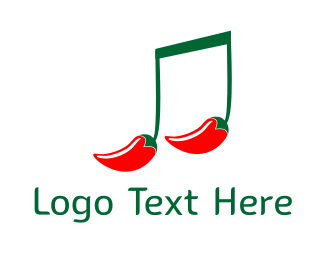 Musical Note - Hot Music logo design