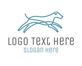 Energy - Blue Dog logo design