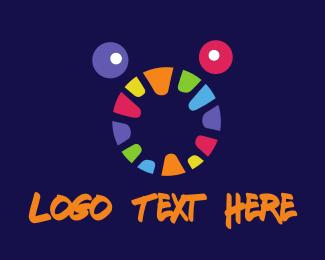 Worm - Colorful Monster Face logo design