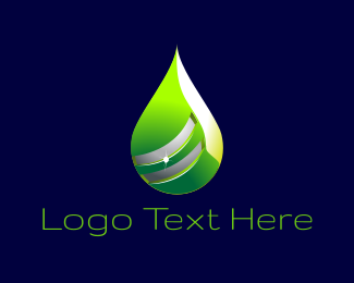 Venom - Green Drop logo design