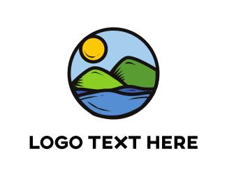 Hike - Landscape Circle logo design