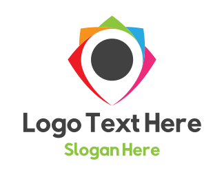Courier Service - Colorful Locator logo design