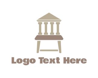 Court - Justice Chair logo design