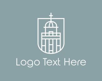 God - White Church  logo design
