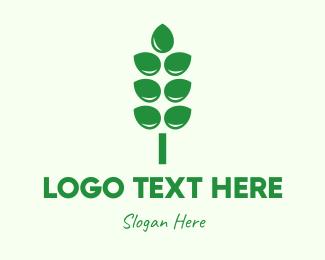 Wheat - Water Flower logo design