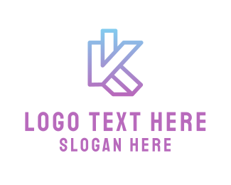 Letter K - V & K logo design